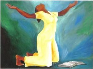 Image result for kneeling in prayer painting